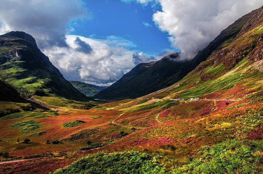 the valley of three sisters  glencoe  scotland photograph