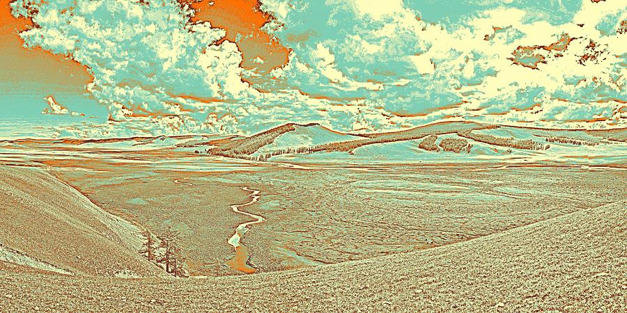 Nature Painting - The Valley Of Winding Snake River by Celestial Images