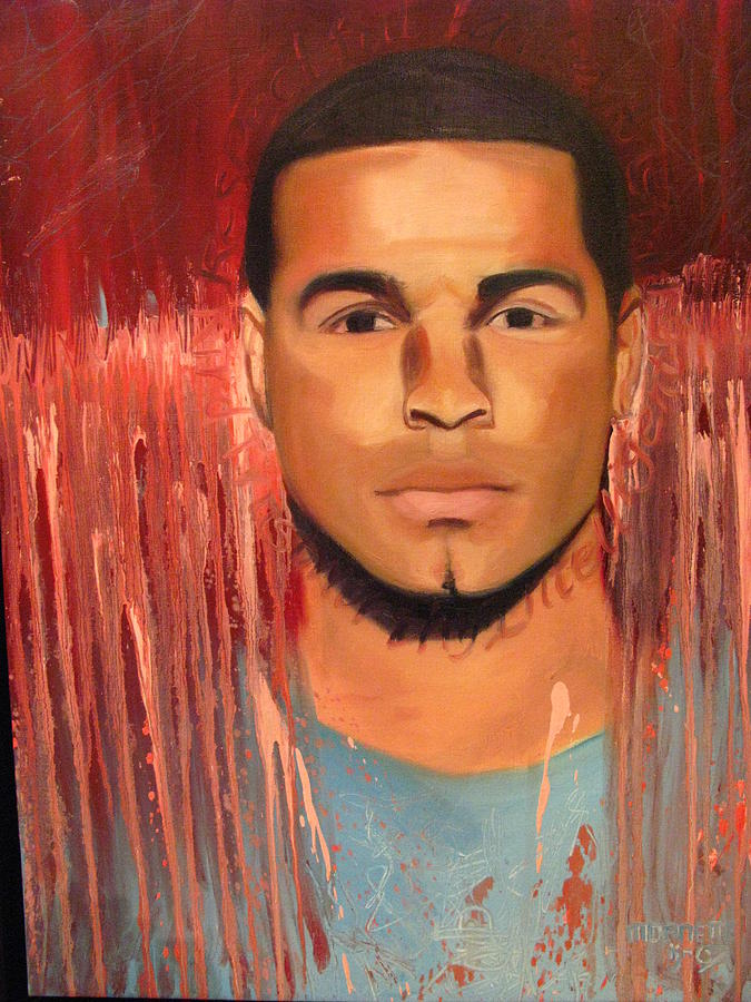 Portrait Painting - The Value Of A Man-jermaine by MDanette Smith