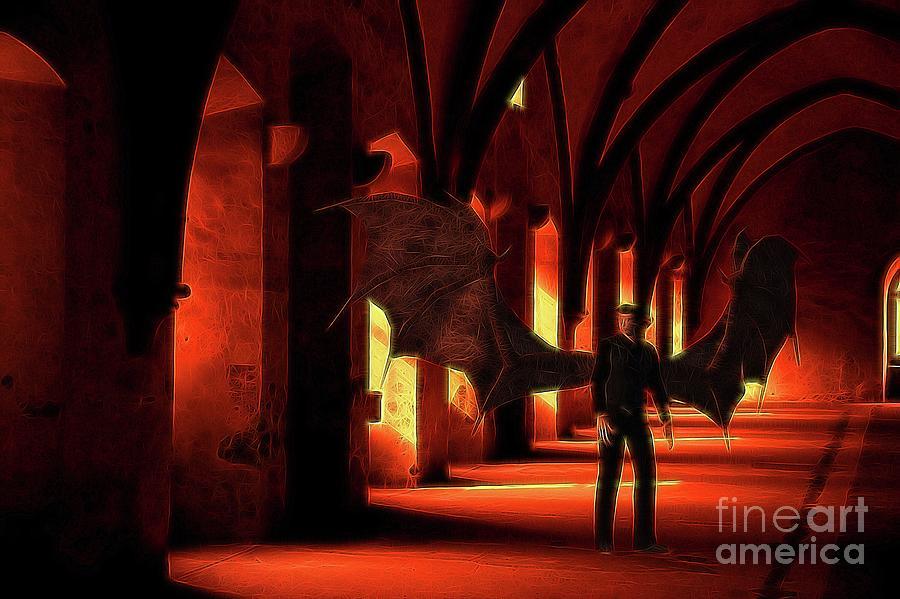 Demon Digital Art - The Vampire Stalks by Raphael Terra