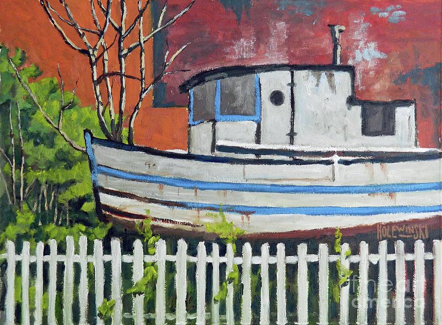 Boat Painting - The Venezellos  by Robert Holewinski