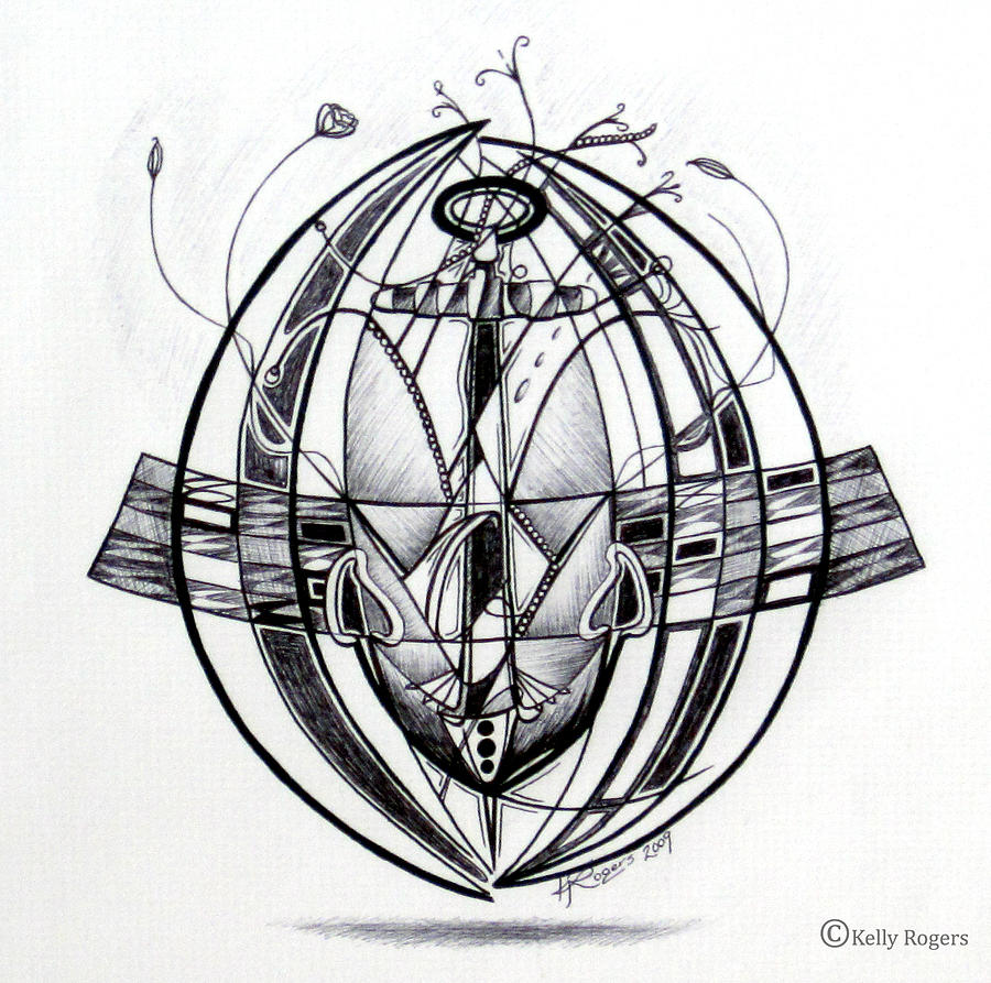 Anchor Drawing - The Vicor by Kelly Rogers