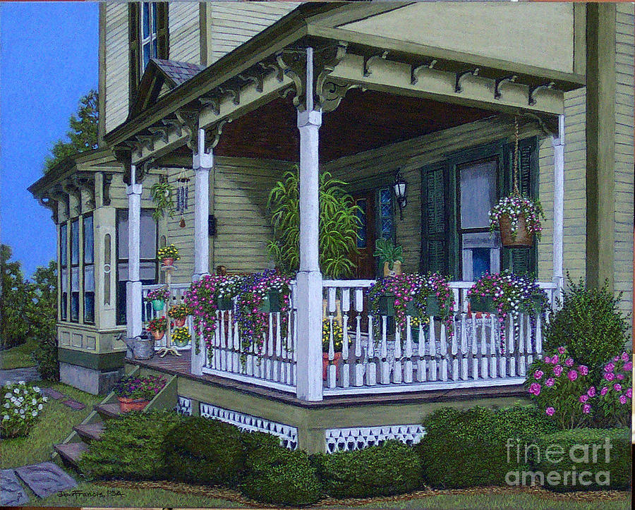 The Victorian Porch Painting By David Francis