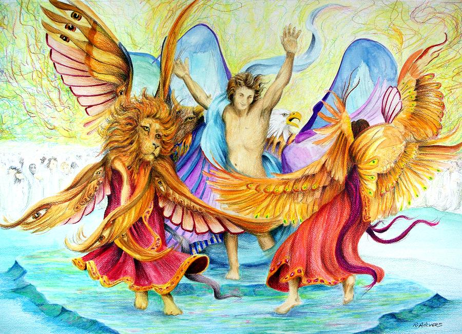 Christian Art Drawing - The Victory Dance by Rick Ahlvers