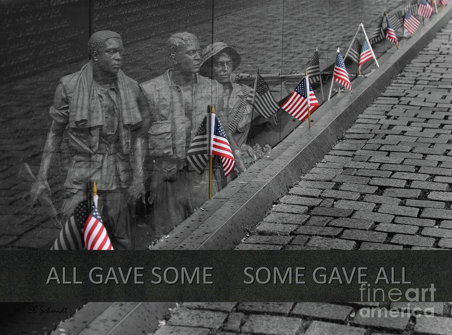 Washington Dc Photograph - The Vietnam War Memorial by E B Schmidt