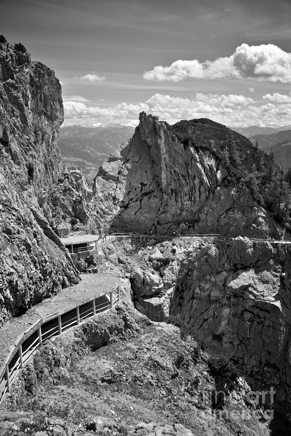 Black And White Photograph - The View From Eisriesenwelt Werfen Ice Cave by Hideaki Sakurai