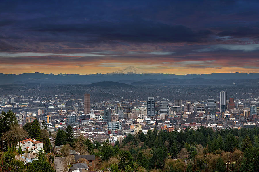 Pittock Mansion Photograph - The View From Pittock Mansion Viewpoint by David Gn