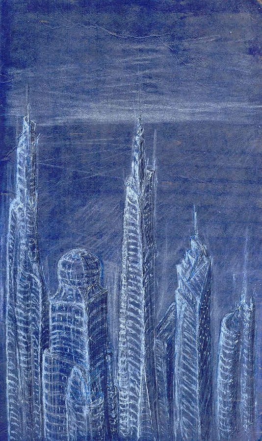 Architecture Drawing - The View From Up Here by J Michael Kilpatrick
