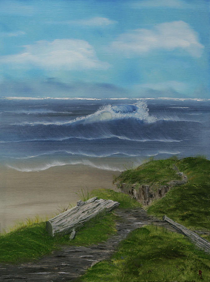 Ocean Painting - The View II by Robin Lee