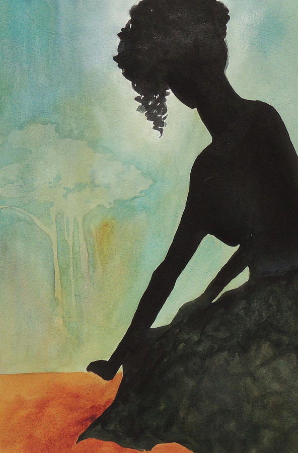 Figure Painting - The View by Mary Blumberg