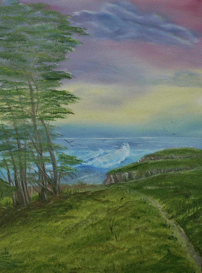Seascape Painting - The View by Robin Lee