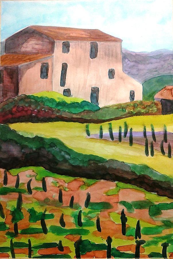 Landscape Painting - The Vineyard by Julie Gelsinger