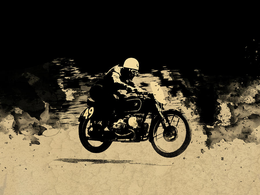 Bmw Photograph - The Vintage Motorcycle Racer by Mark Rogan