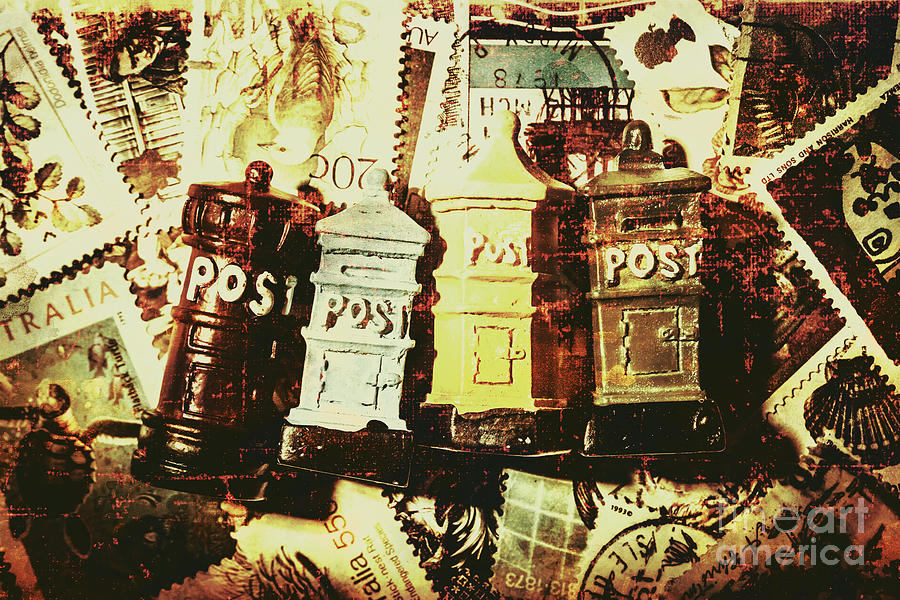 Post Photograph - The Vintage Postage Card by Jorgo Photography - Wall Art Gallery
