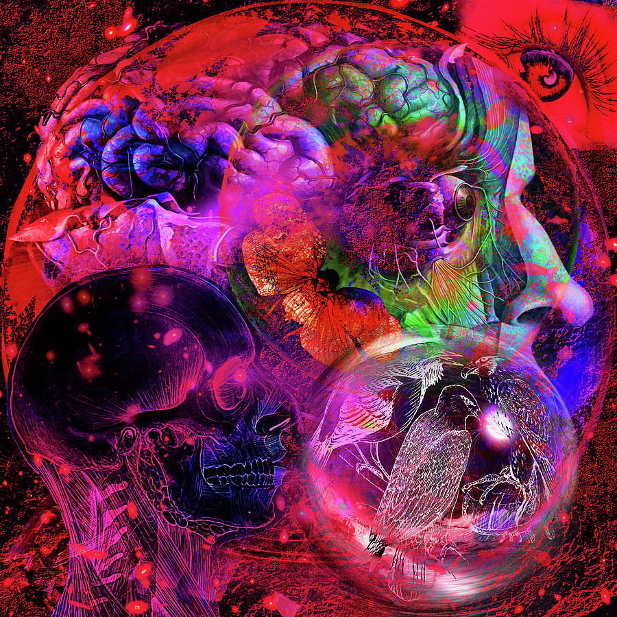 Sociologist Digital Art - The Violent Mind by Joseph Mosley