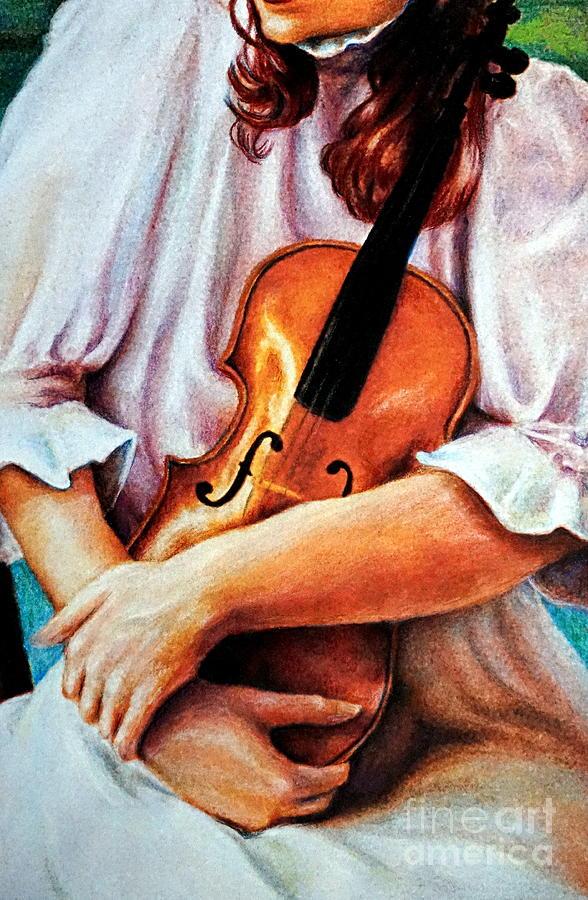 The Violin by Georgia's Art Brush