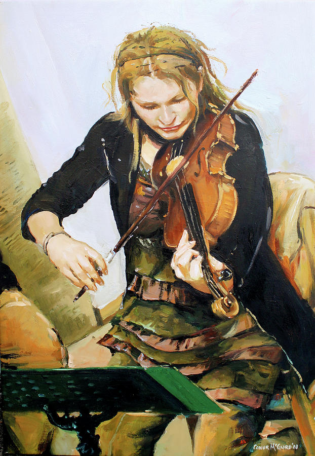 The Violinist Painting by Conor McGuire