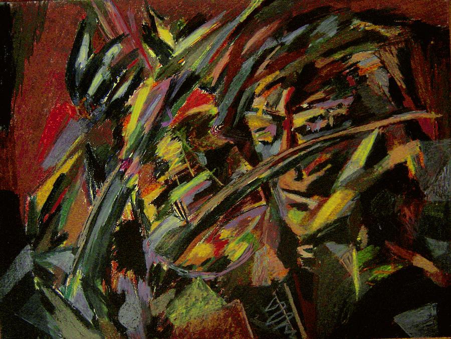 Fantasy Painting - The Violinist by Tadeush Zhakhovskyy