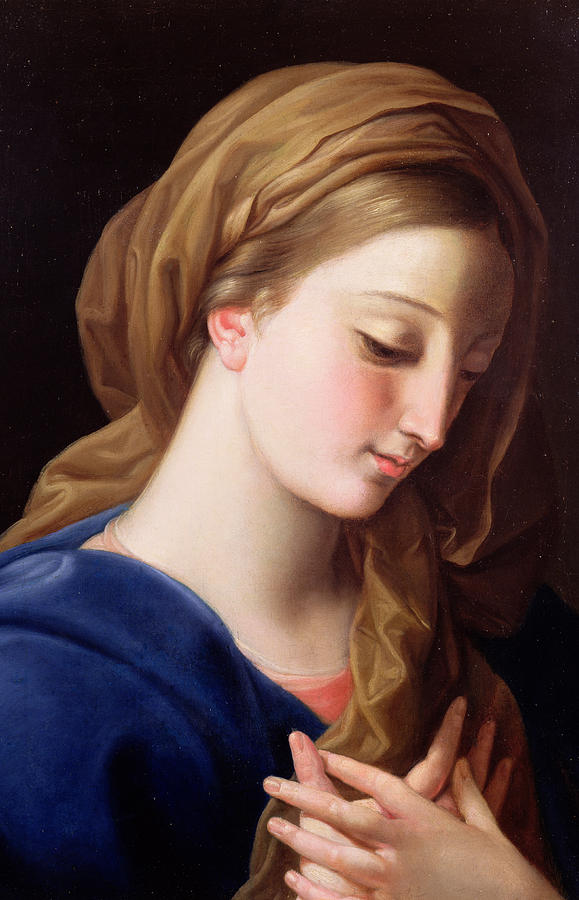 Pompeo Painting - The Virgin Annunciate by  Pompeo Girolamo Batoni