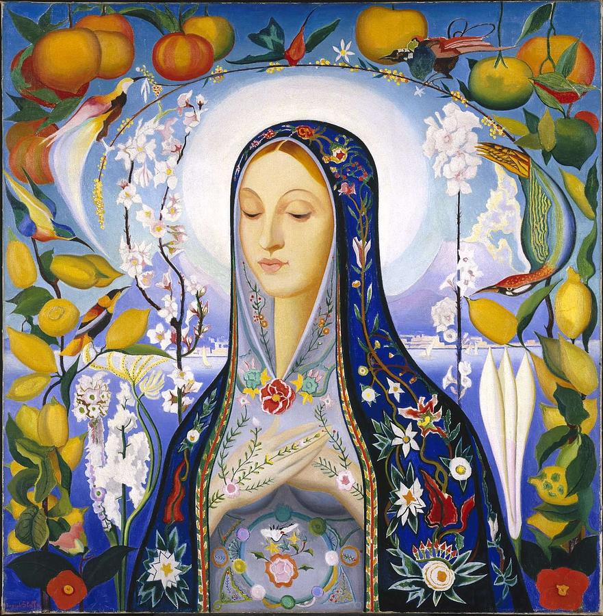 Beautiful Painting - The Virgin,  Joseph Stella by Joseph Stella