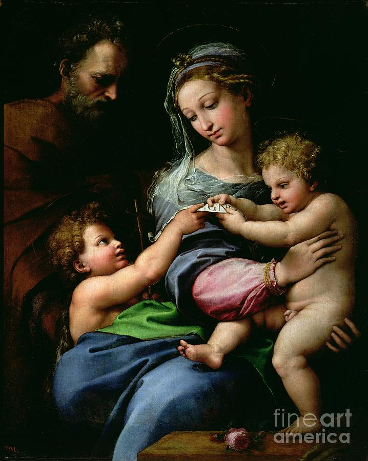 The Painting - The Virgin Of The Rose by Raphael
