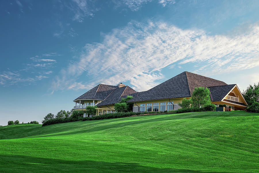 Golf Photograph - The Virtues Golf Course Clubhouse by Tom Mc Nemar