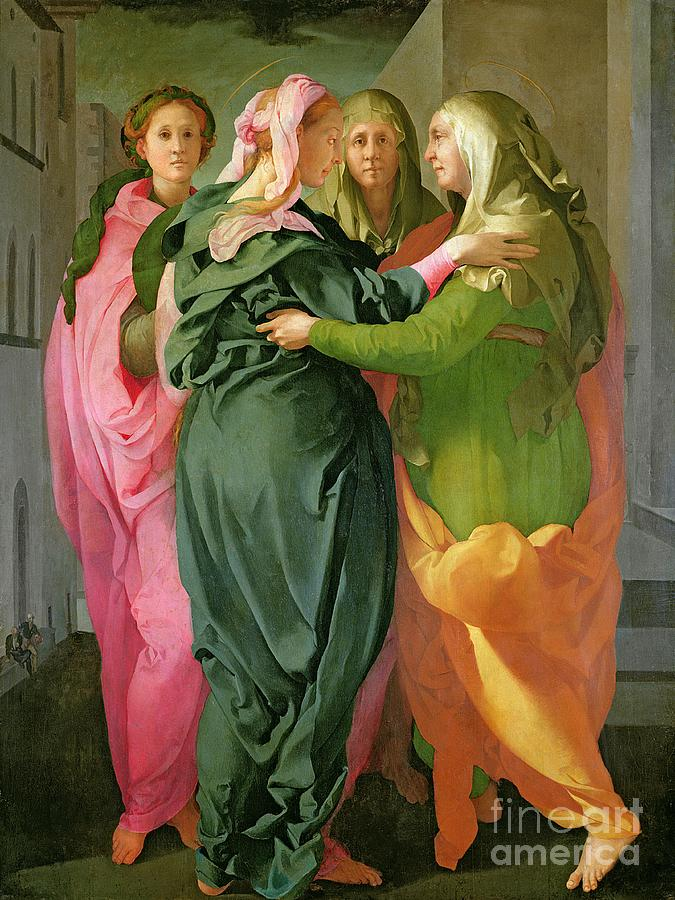 The Painting - The Visitation by Jacopo Pontormo