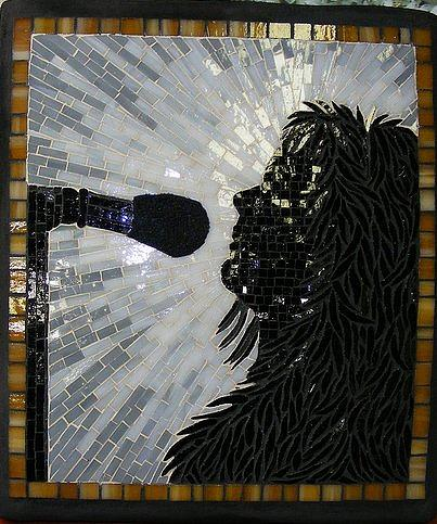 Mosaics Mixed Media - The Vocalist by Annie Thomas-Burke