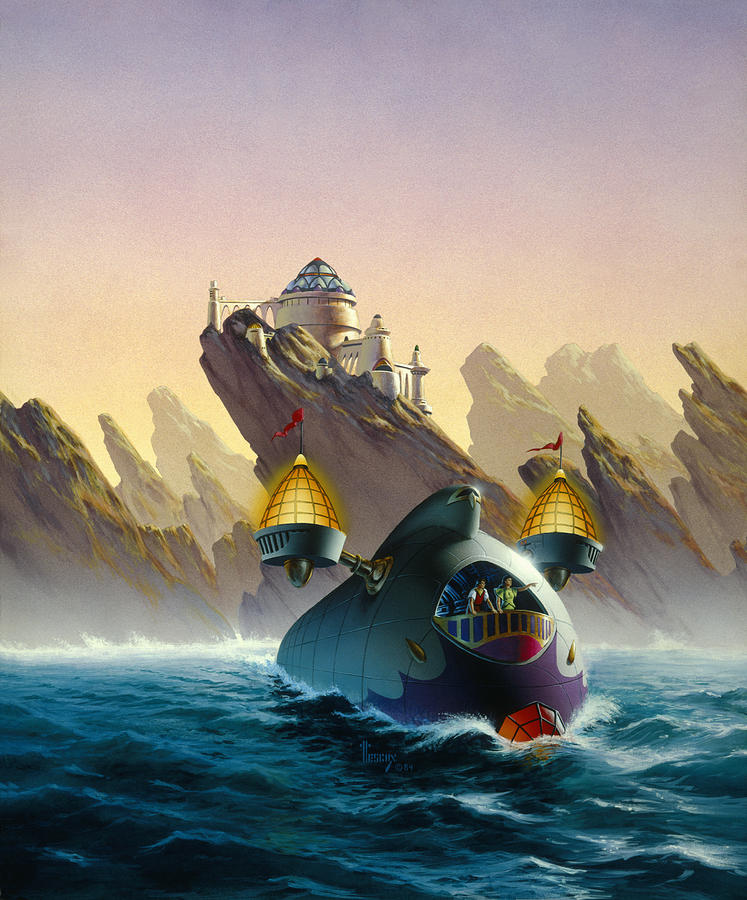Future Painting - The Voyage by Richard Hescox