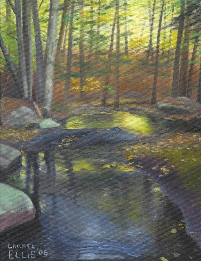 Landscape Painting - The Wading Pool by Laurel Ellis