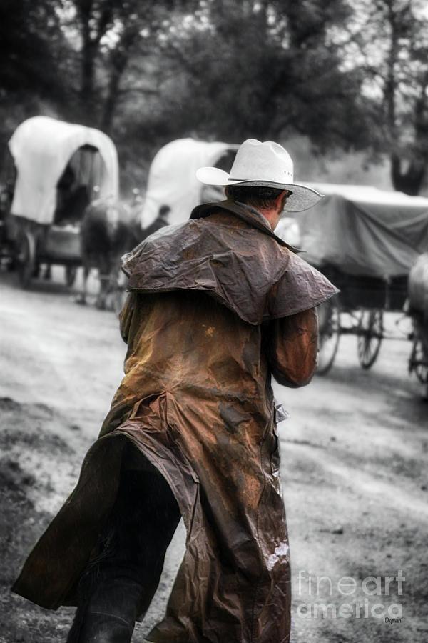Wagon Train Photograph - The Wagon Train  by Steven Digman