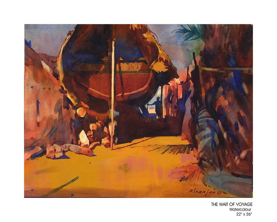 Painting Painting - The Wait Of Voyage by Niranjan Mhamane