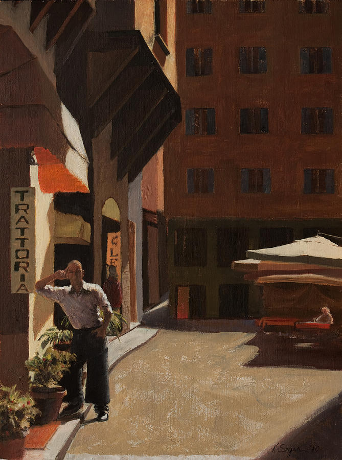 Waiter Painting - The Waiter by Katherine Seger