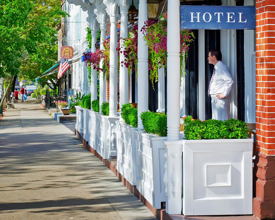 Hotel Photograph - The Waiter by Keith Armstrong