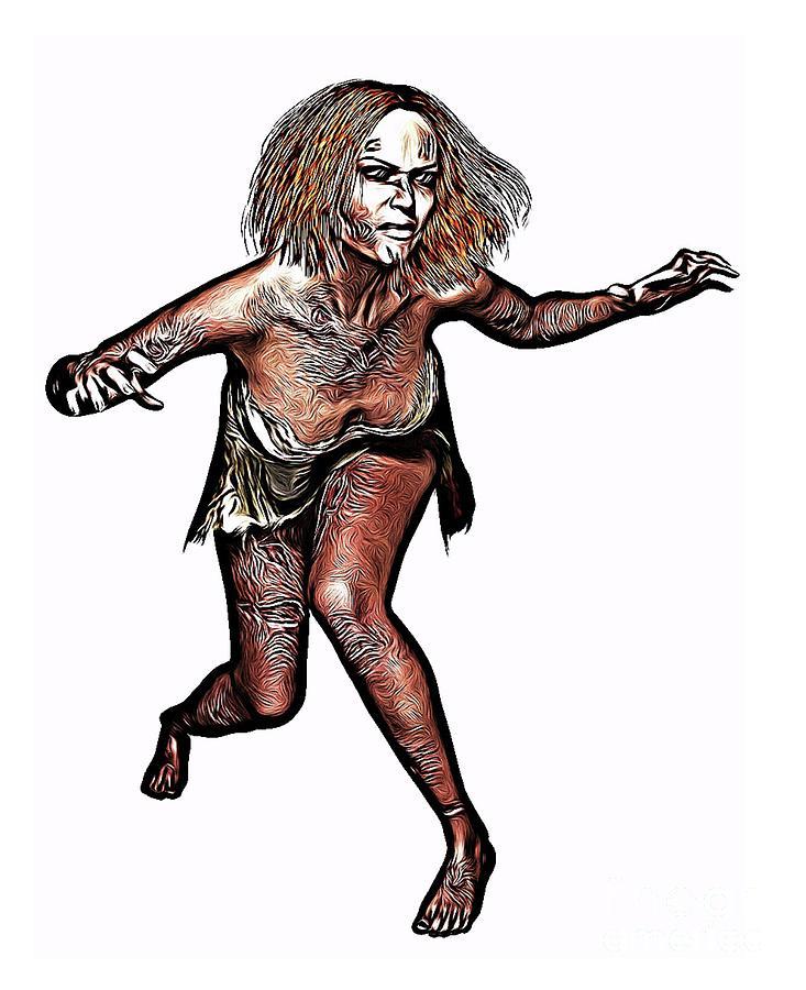 Zombie Digital Art - The Walking Dead, Digital Art By Mb by Esoterica Art Agency