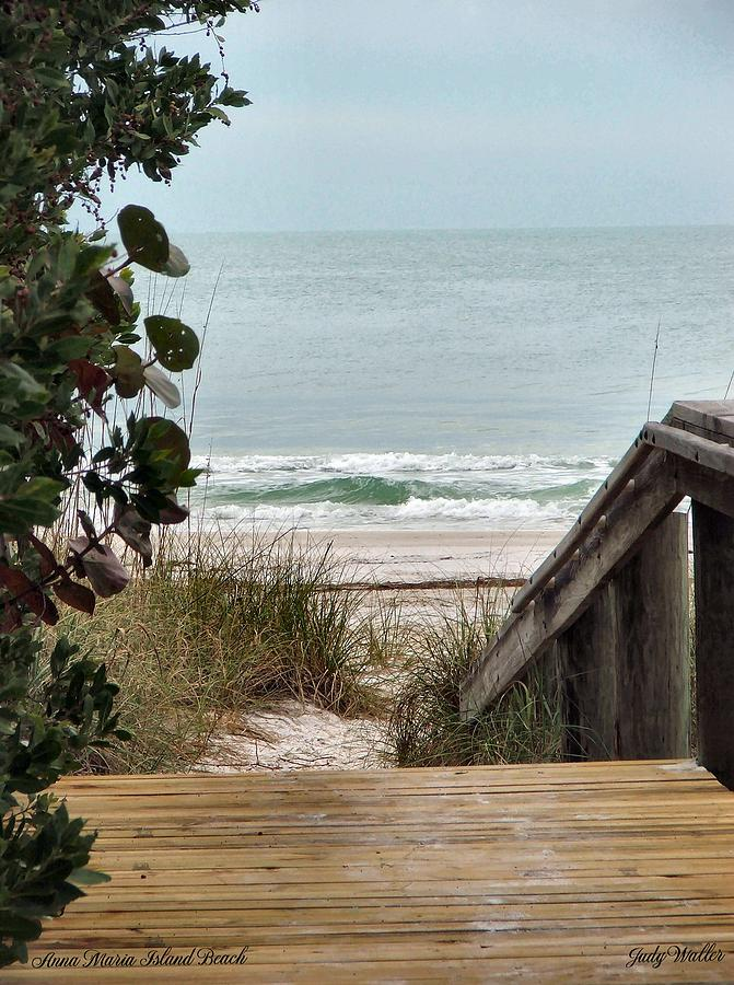 Beach Photograph - The Walkway To The Beach by Judy  Waller