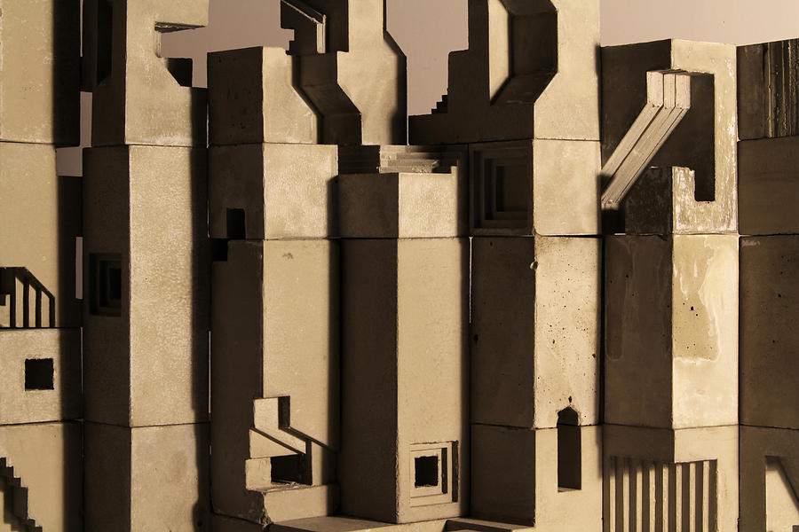 Architecture Photograph - The Wall 1 by David Umemoto