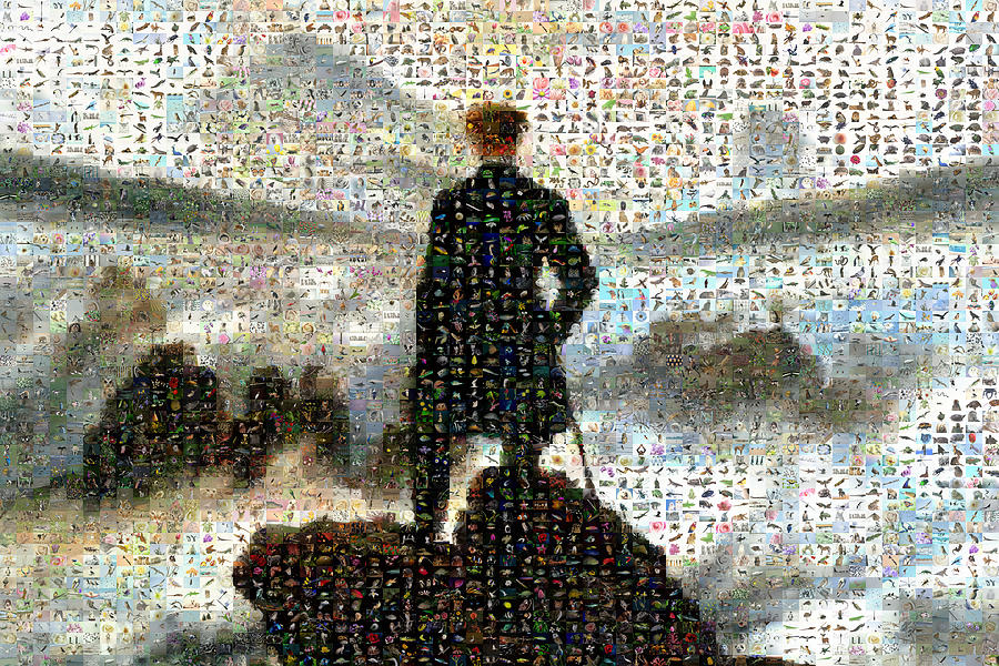 Mosaic Digital Art - The Wall Above The Sea Of Fog by Gilberto Viciedo