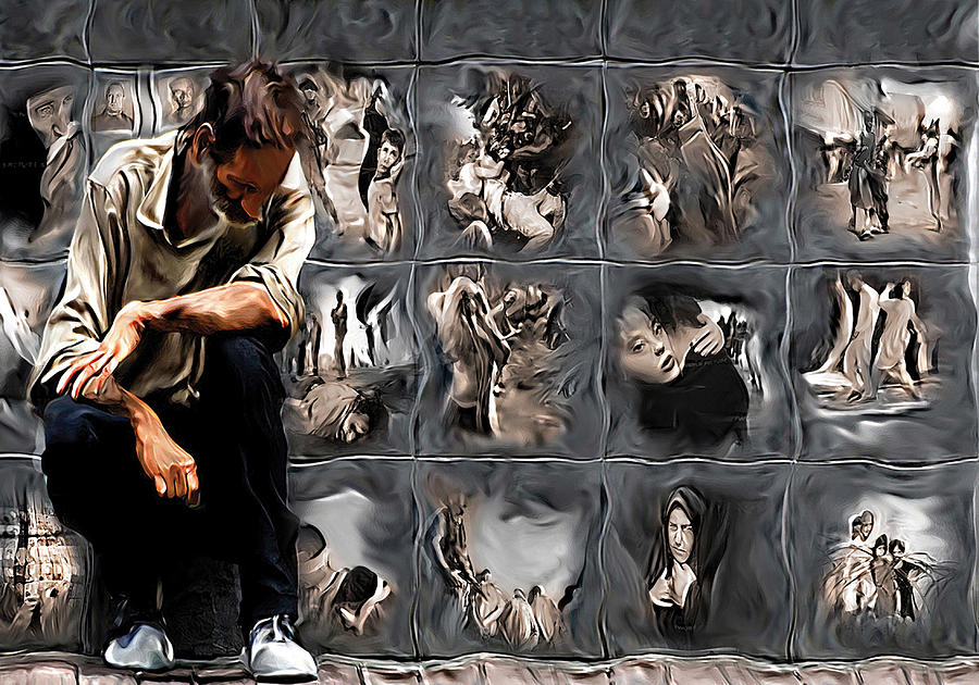 People Painting - The Wall by Naikos N