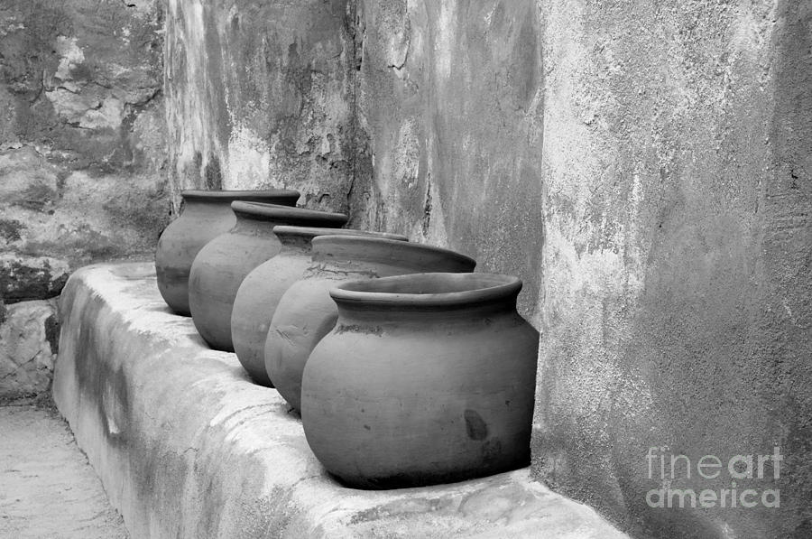 Bronstein Photograph - The Wall Of Pots by Sandra Bronstein
