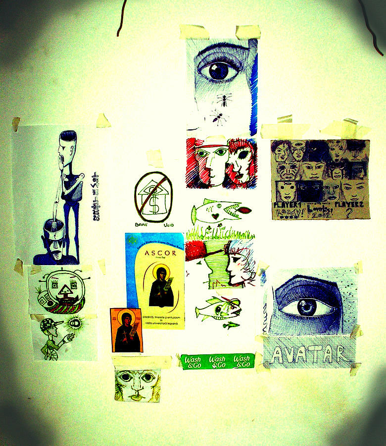 The Wall Mixed Media by Rosu Alexandru-Andrei