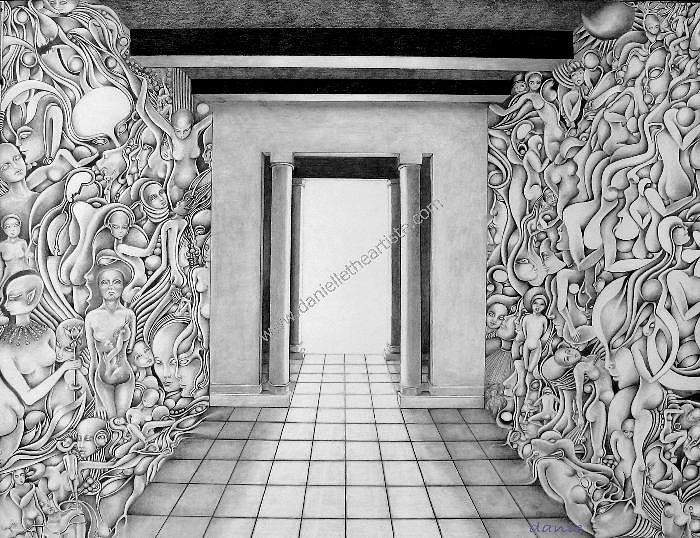 Pencil Drawing Drawing - The Walls Of Human Nature by Danielle The artiste