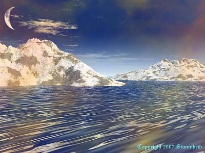 Seascape Digital Art - The Waning Elements by S I Sheehan