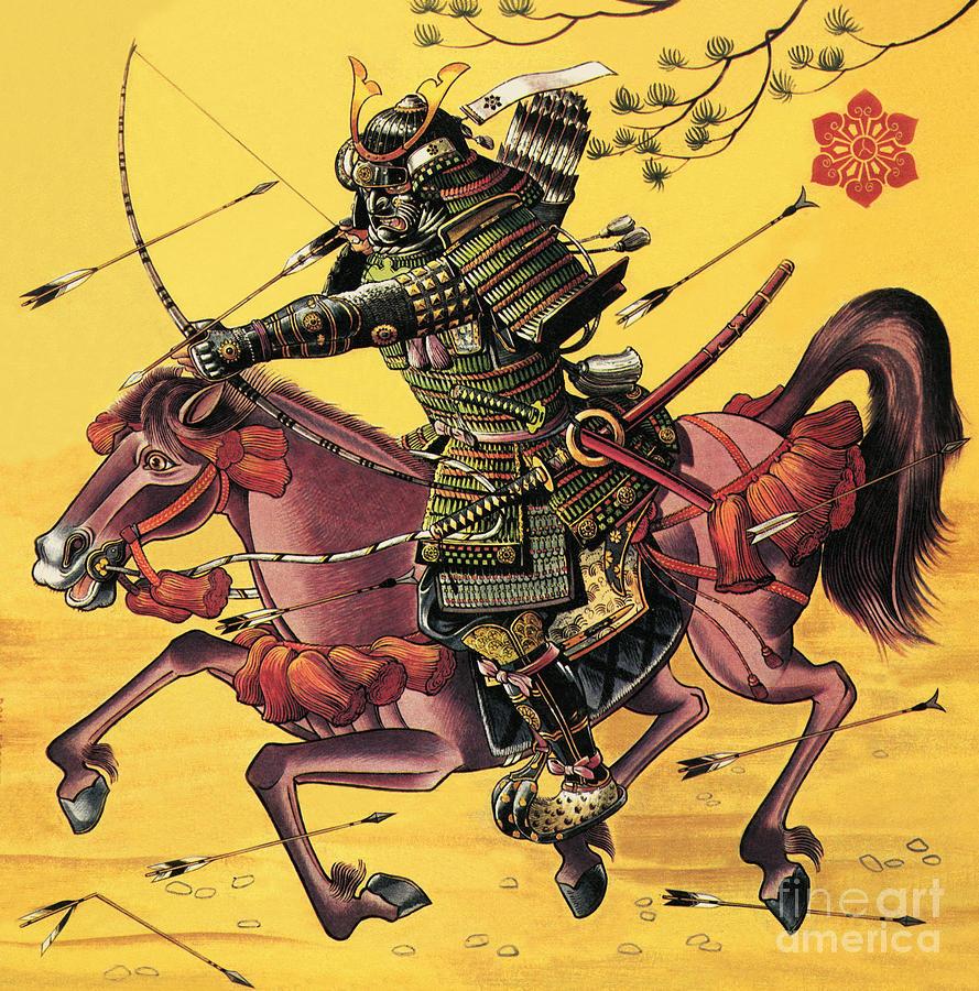 Firing Painting - The War Lords Of Japan by Dan Escott