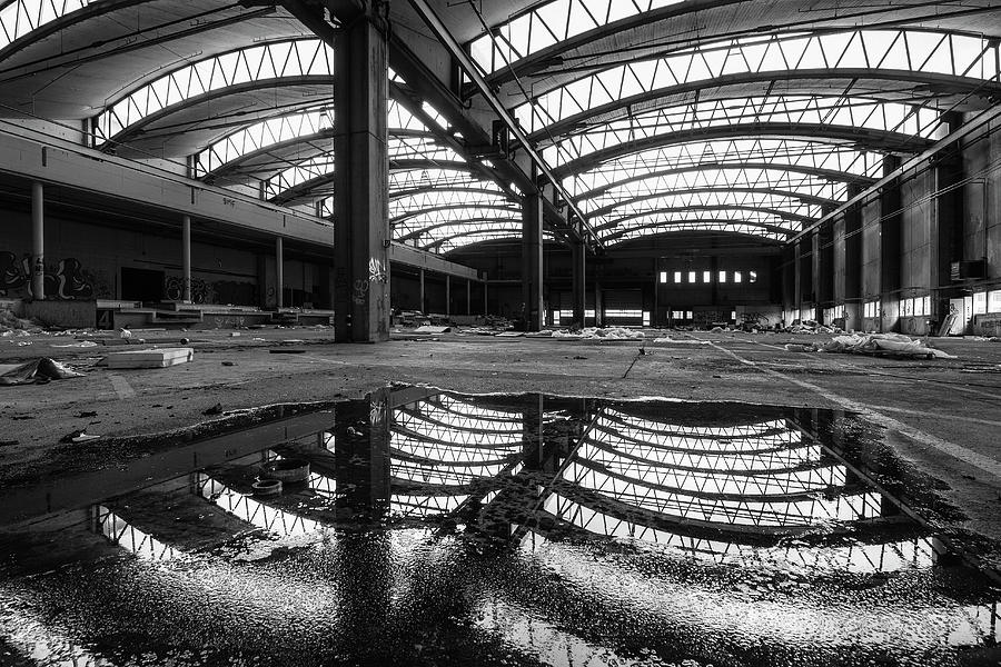 Black And White Photograph - The Warehouse by Yann Gerardi