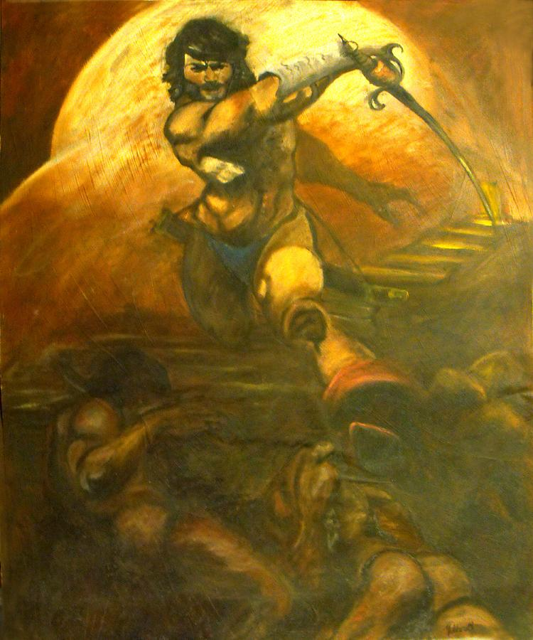 The Warrior Painting - The Warrior by Michelina Sarao