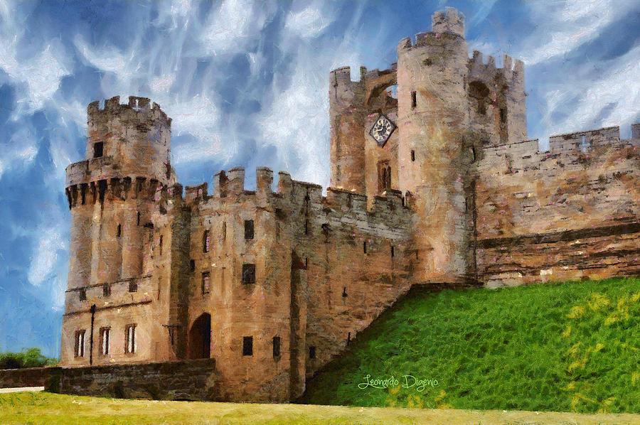 The Warwick Castle Painting By Leonardo Digenio
