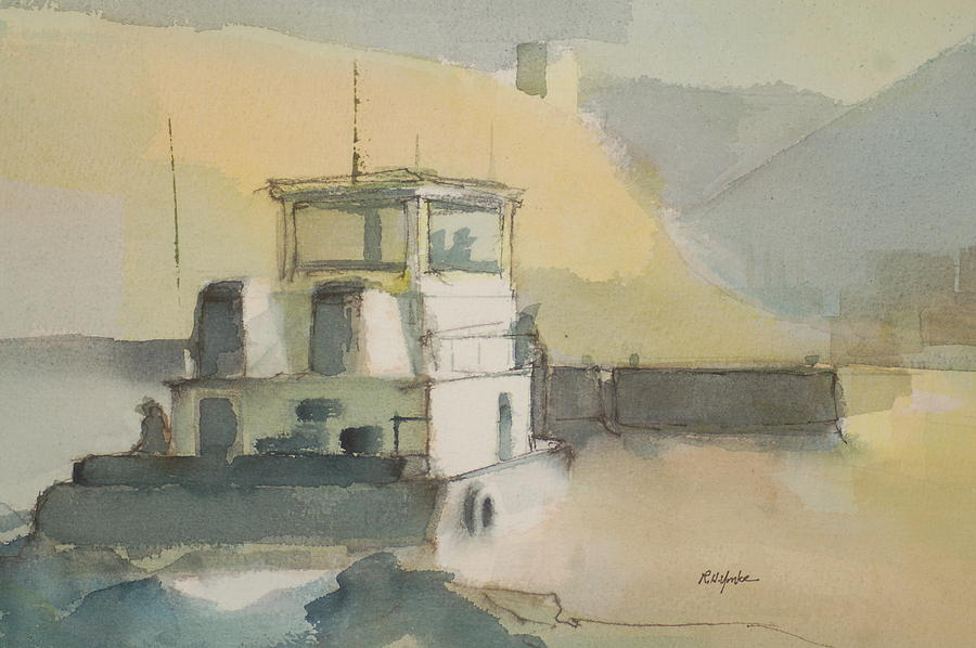 Riverboat Painting - The Wash by Robert Yonke