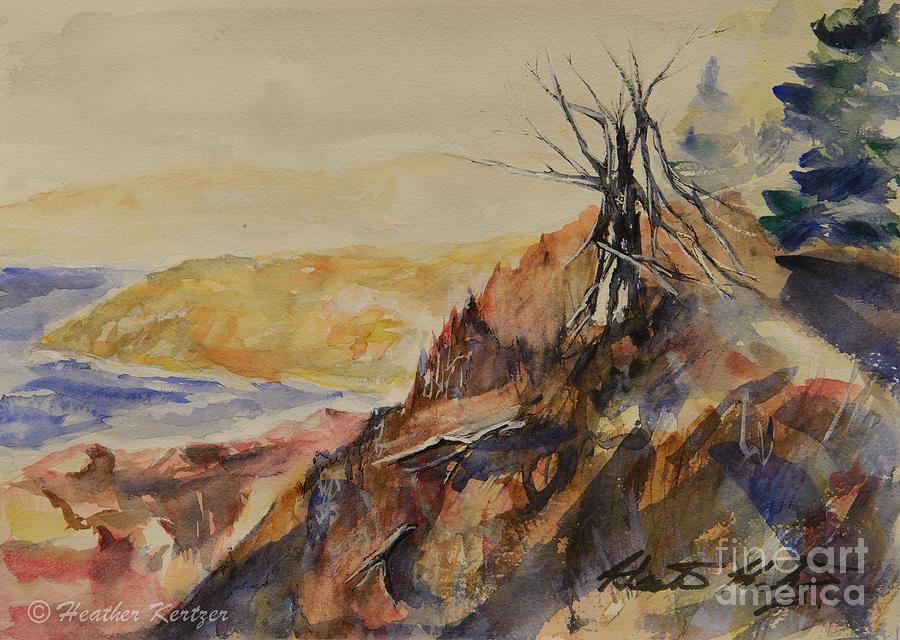 Nova Scotia Painting - The Watcher by Heather Kertzer