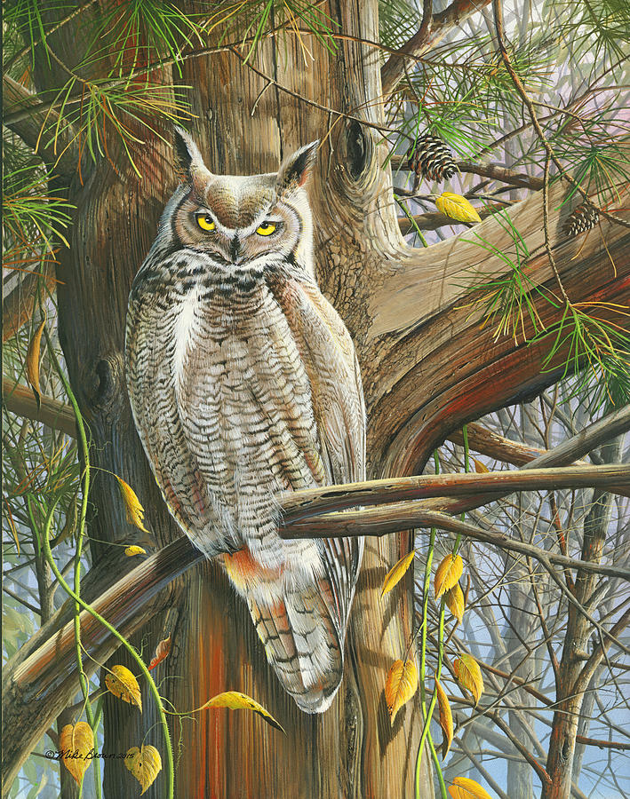 Fall Painting - The Watchman by Mike Brown